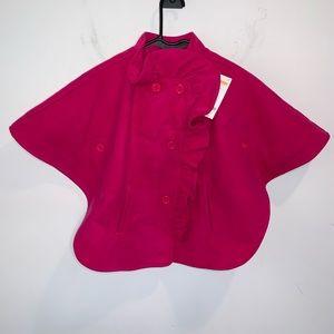 Gymboree Girls Cloak Coat Fleece Cape Poncho